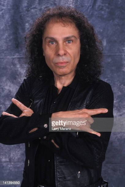 Ronnie James Dio poses for a portrait at Ozone on December 14 2000 in Boyton Beach Florida