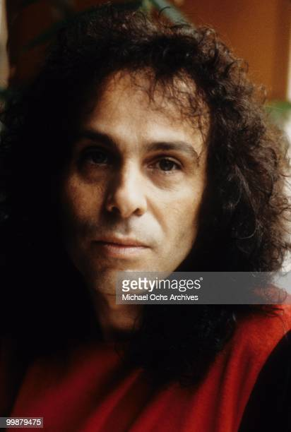 Ronnie James Dio poses for a portrait in 1984 in Los Angeles California