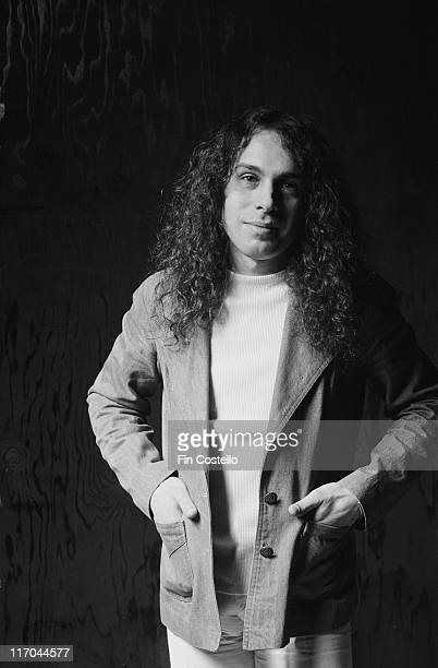 Ronnie James Dio US rock singer with British rock band Rainbow poses for a studio portrait in 1976