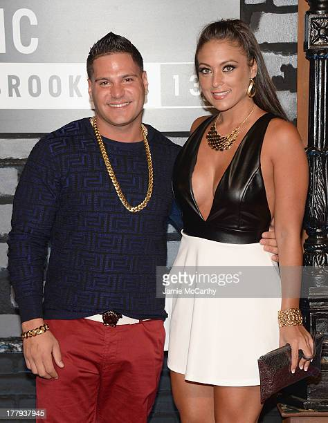 Ronnie Magro and Sammi Giancola attend the 2013 MTV Video Music Awards at the Barclays Center on August 25 2013 in the Brooklyn borough of New York...