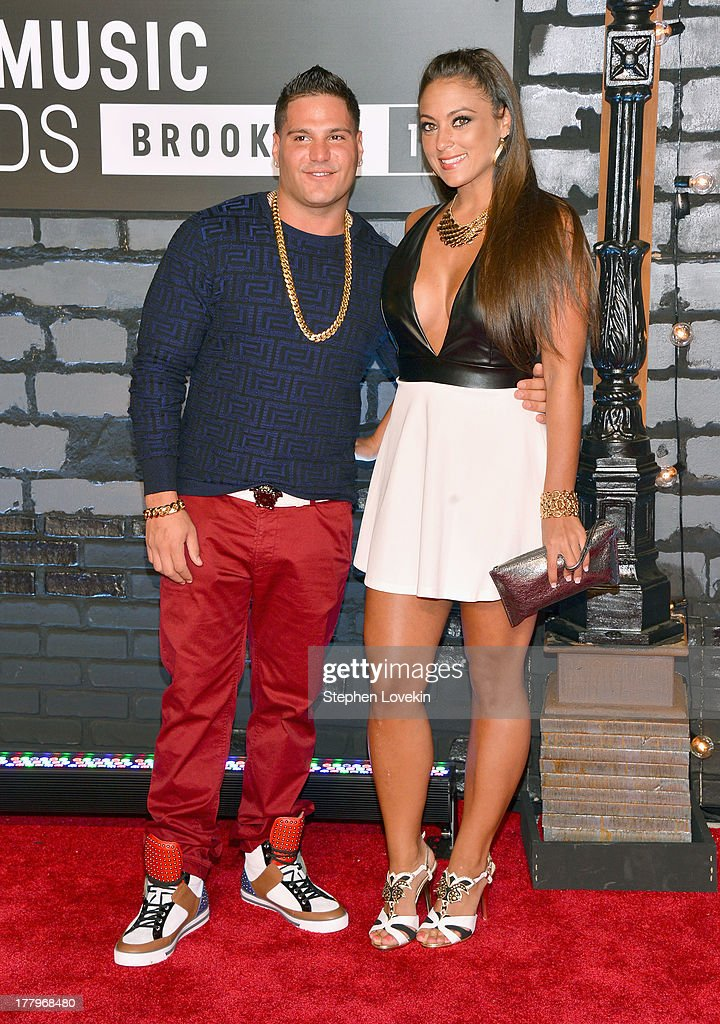 Ronnie Magro and Sammi Giancola attend the 2013 MTV Video Music Awards at the Barclays Center on August 25, 2013 in the Brooklyn borough of New York City.