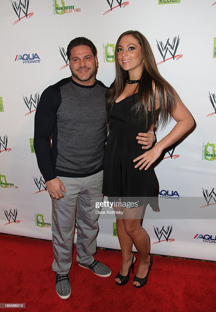 Ronnie Magro and Sammi Giancola attend the Superstars For Sandy Relief at Cipriani Wall Street on April 4, 2013 in New York City.