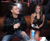 Ronnie Magro and Sammi Giancola host at Jet Nightclub at The Mirage on March 6 2010 in Las Vegas Nevada