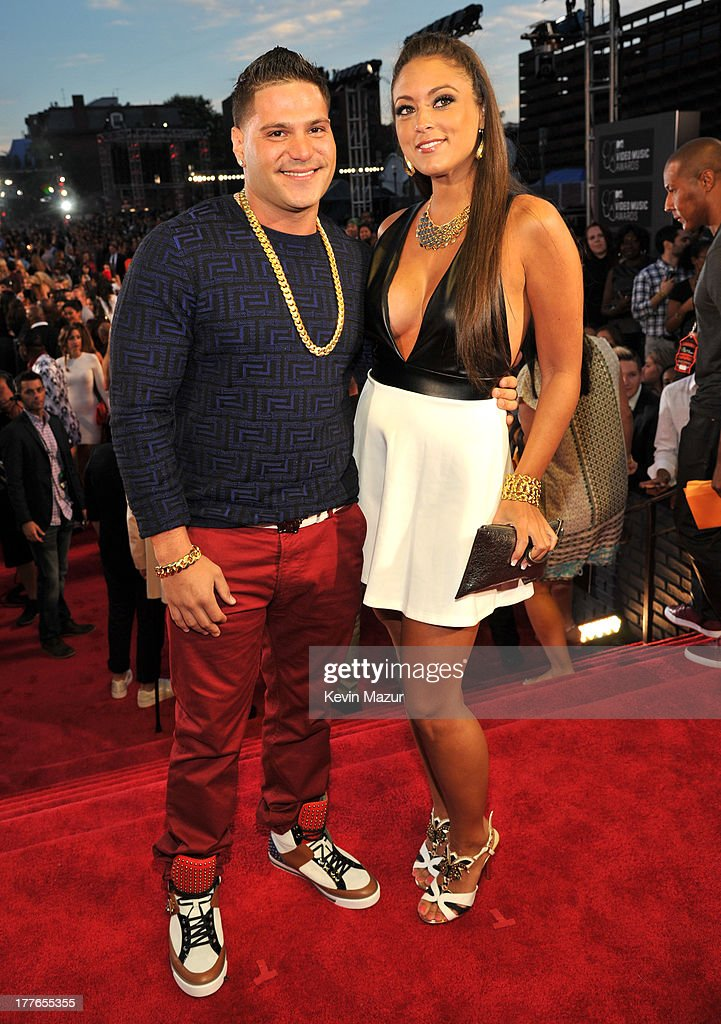 Ronnie Magro and Sammi 'Sweetheart' Giancola attend the 2013 MTV Video Music Awards at the Barclays Center on August 25, 2013 in the Brooklyn borough of New York City.