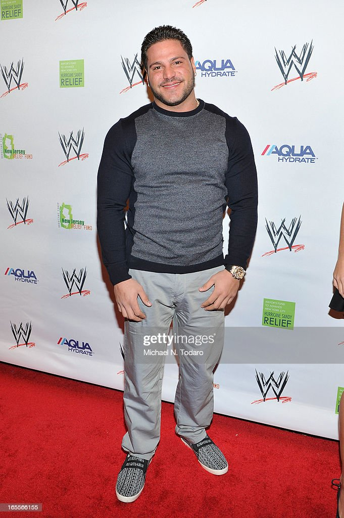 Ronnie Magro attends WWE Superstars for Sandy Relief at Cipriani, Wall Street on April 4, 2013 in New York City.