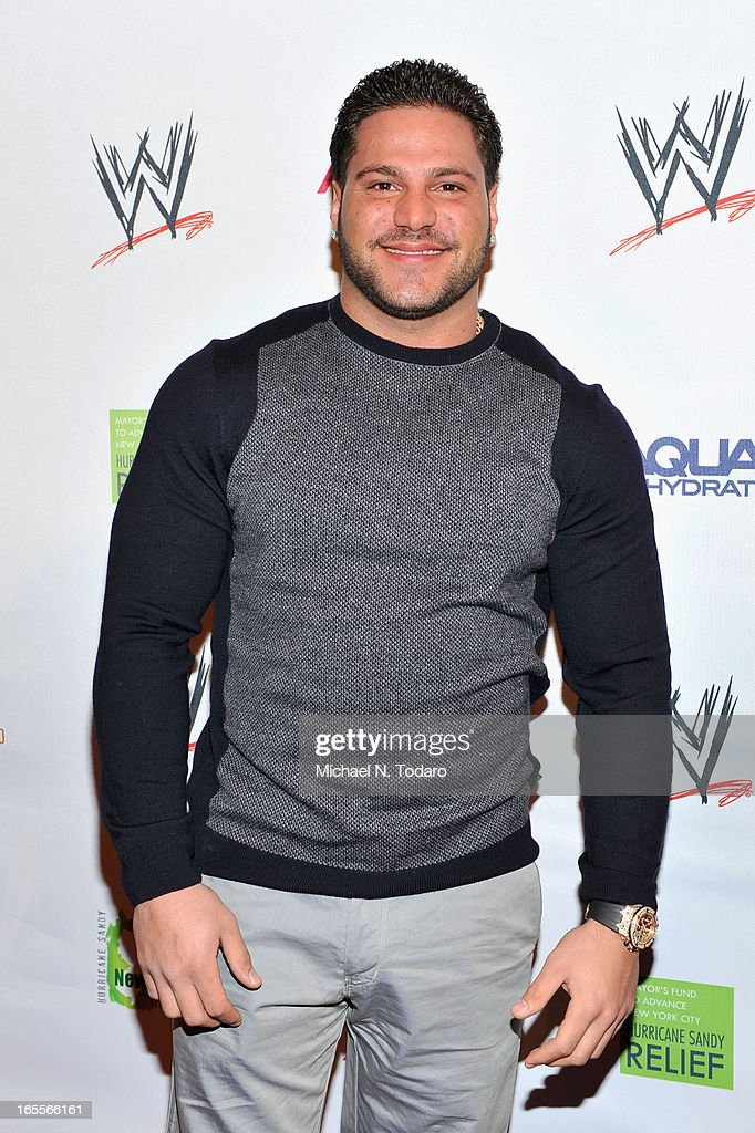 <a gi-track='captionPersonalityLinkClicked' href=/galleries/search?phrase=Ronnie+Magro&family=editorial&specificpeople=6755919 ng-click='$event.stopPropagation()'>Ronnie Magro</a> attends WWE Superstars for Sandy Relief at Cipriani, Wall Street on April 4, 2013 in New York City.