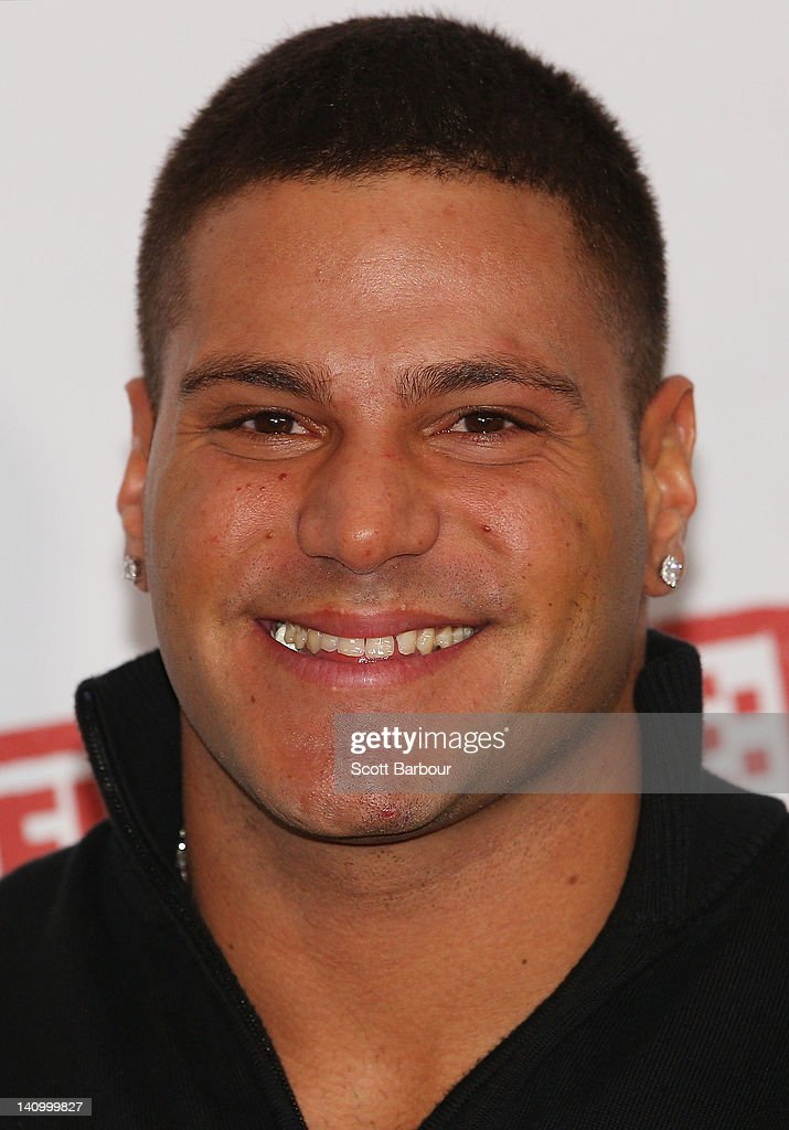 Ronnie Magro Ortiz of 'Jersey Shore' arrives at the Australian premiere of 'American Pie: Reunion' on March 7, 2012 in Melbourne, Australia.
