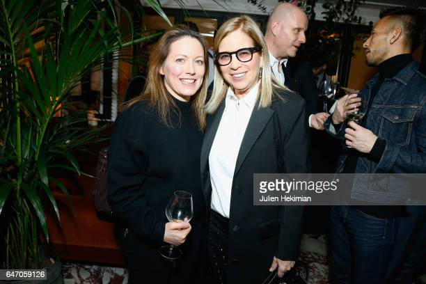Ronnie Newhouse and a guest attend the Mastermind Magazine launch dinner as part of Paris Fashion Week Womenswear Fall/Winter 2017/2018 at Loulou...