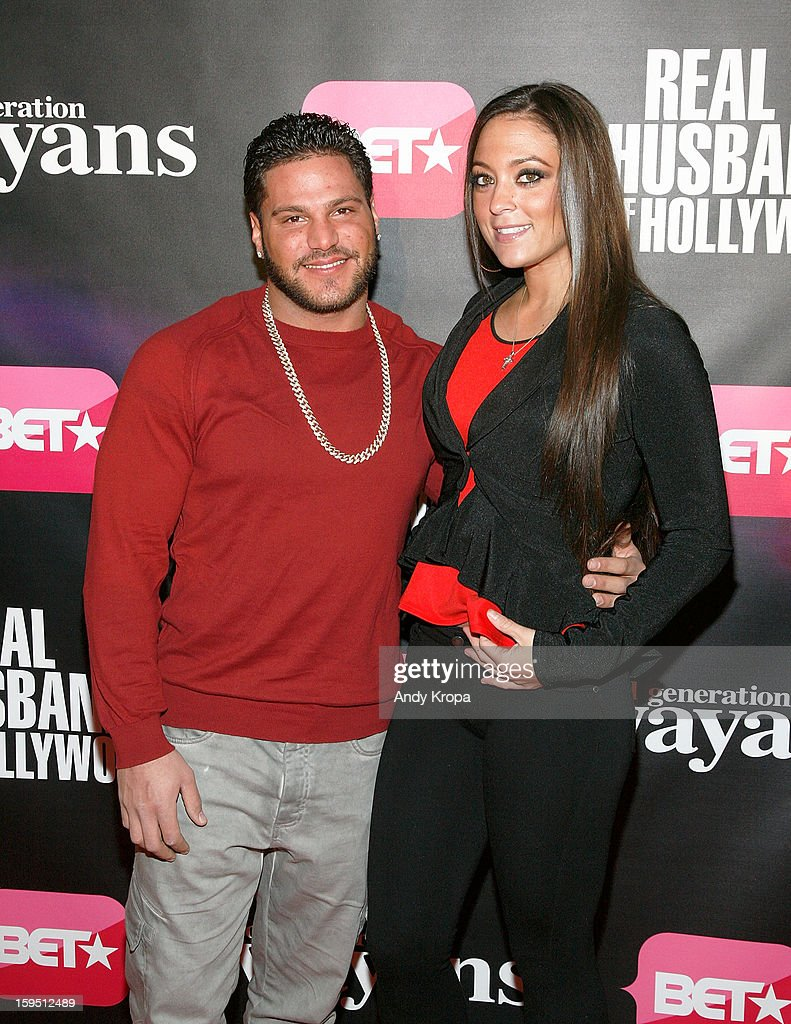 Ronnie Ortiz-Magro and Samantha Giancola attend the 'Real Husbands Of Hollywood' & 'Second Generation Wayans' screening at SVA Theatre on January 14, 2013 in New York City.