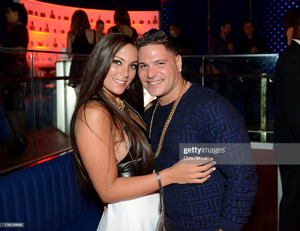 Ronnie OrtizMagro and Sammi Giancola attend Intouch Weekly's 'ICONS IDOLS Party' on August 25 2013 in New York United States