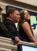 Ronnie OrtizMagro and Sammi Giancola ring the opening bell at the New York Stock Exchange on July 27 2010 in New York City