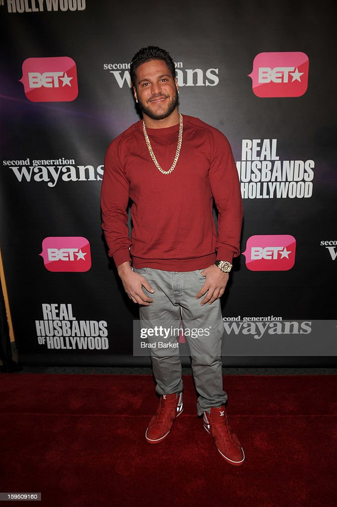 Ronnie Ortiz-Magro attends BET Networks New York Premiere Of 'Real Husbands of Hollywood' And 'Second Generation Wayans' at SVA Theater on January 14, 2013 in New York City.