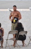Ronnie OrtizMagro filming on location for 'Jersey Shore' on July 2 2012 in Seaside Heights New Jersey