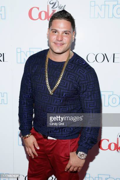 Ronnie OrtizMagro of Jersey Shore arrives at Intouch Weekly's 'ICONS IDOLS Party' at FINALE Nightclub on August 25 2013 in New York City