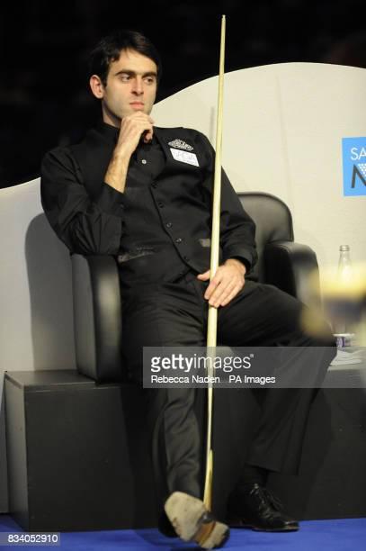 Ronnie O'Sullivan during the SAGA Insurance Masters at Wembley Arena London