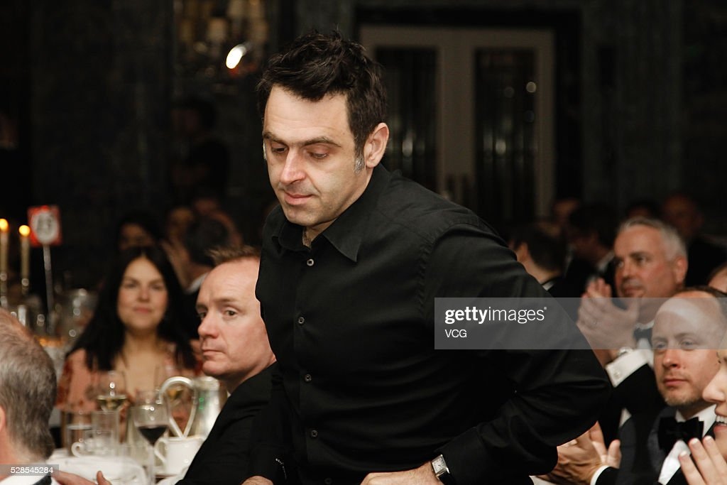 Ronnie O'Sullivan of England attends the annual end-of-season awards dinner on May 6, 2016 in Manchester, England.