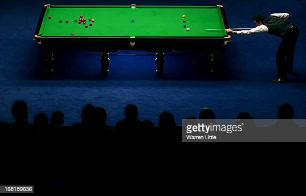 Ronnie O'Sullivan of England in action against Barry Hawkins of England during the final of the Betfair World Snooker Championship at the Crucible...