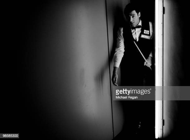 Ronnie O'Sullivan of England walks backstage during the Betfredcom World Snooker Championships at the Crucible Theatre on April 19 2010 in Sheffield...