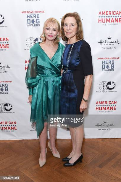 Ronnie Perl and Donna Senter attend 2017 American Humane Hero Dog Awards at The National Arts Club on May 8 2017 in New York City