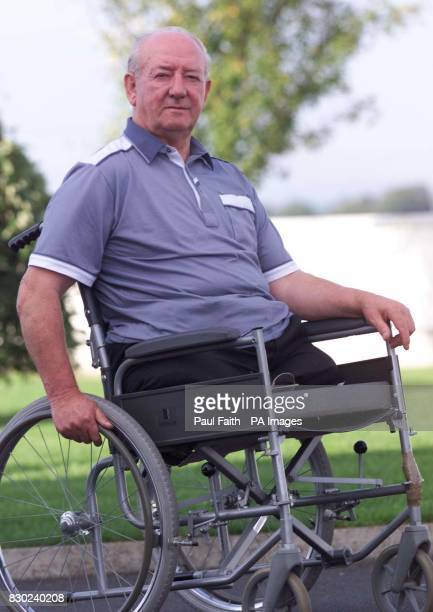Ronnie Pollock outside his County Down home Mr Pollock a former policeman lost his legs when a booby trap bomb exploded under his car in 1981 * Mr...