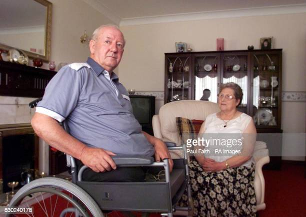 Ronnie Pollock with his wfe Georgie in their County Down home Mr Pollock a former policeman lost his legs when a booby trap bomb exploded under his...