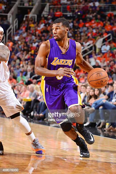 Ronnie Price of the Los Angeles Lakers drives against the Phoenix Suns on October 29 2014 at US Airways Center in Phoenix Arizona NOTE TO USER User...