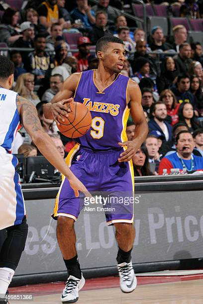 Ronnie Price of the Los Angeles Lakers handles the ball against the Detroit Pistons on December 2 2014 at The Palace of Auburn Hills in Auburn Hills...