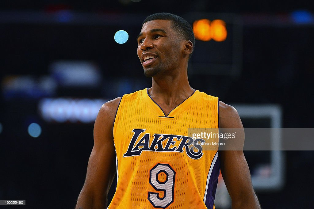 Ronnie Price of the Los Angeles Lakers on the court during a game against the Sacramento Kings at Staples Center on December 9 2014 in Los Angeles...