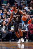 Ronnie Price of the Orlando Magic handles the ball against the Brooklyn Nets on April 13 2014 at the Barclays Center in Brooklyn New York NOTE TO...