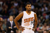 Ronnie Price of the Phoenix Suns during the NBA game against the Chicago Bulls at Talking Stick Resort Arena on November 18 2015 in Phoenix Arizona...