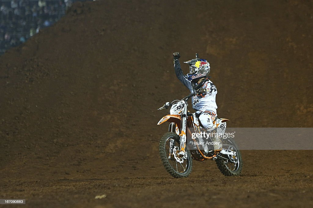 Ronnie Renner during Final Moto X Step Up at the X Games on April 19, 2013 in Foz do Iguacu in National Park Iguacu.