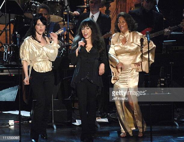 Ronnie Spector and Nedra Talley of The Ronettes perform 'Baby I Love You' 'Walking in the Rain' and 'Be My Baby'