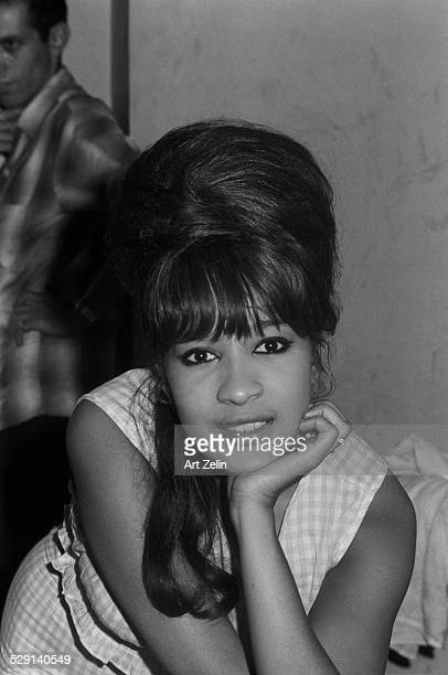 Ronnie Spector of the Ronettes in closeup circa 1970 New York