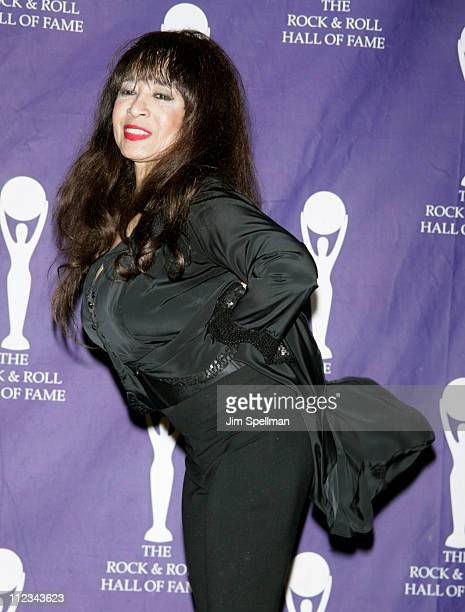 Ronnie Spector of The Ronettes inductee during 22nd Annual Rock and Roll Hall of Fame Induction Ceremony Press Room at Waldorf Astoria in New York...