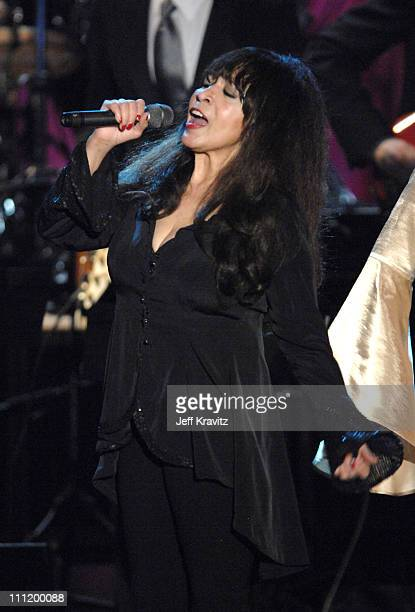 Ronnie Spector of The Ronettes inductee performs 'Baby I Love You/Walking in the Rain/Be My Baby'