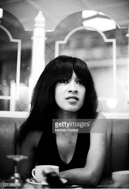 Ronnie Spector of The Ronettes portrait London August 1974