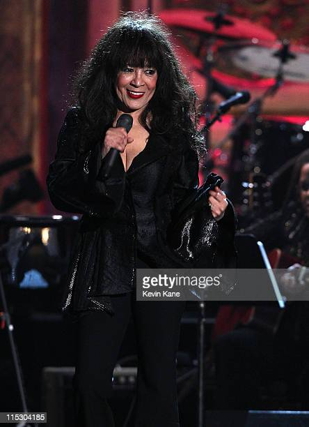 Ronnie Spector performs onstage at the 25th Annual Rock and Roll Hall of Fame Induction Ceremony at Waldorf=Astoria on March 15 2010 in New York New...
