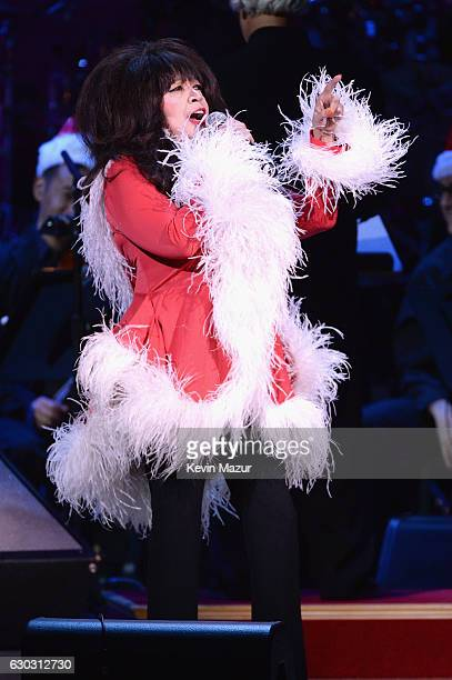 Ronnie Spector performs onstage during The Revlon Concert for the Rainforest Fund 'Baby It's Cold Outside' at Carnegie Hall on December 14 2016 in...