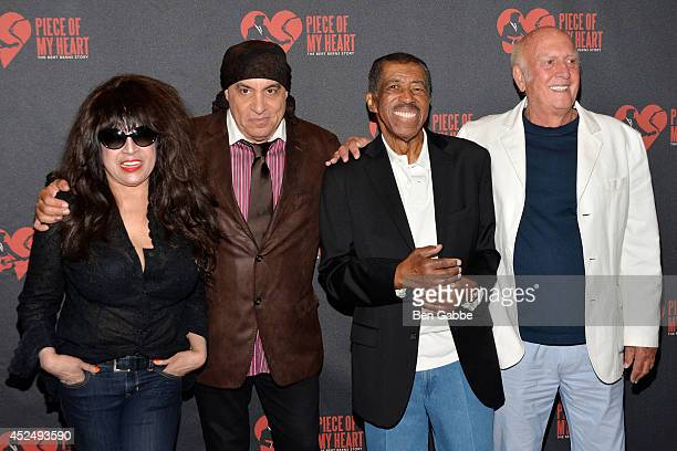 Ronnie Spector Steve van Zandt Ben E King and Mike Stoller attend 'Piece of My Heart The Bert Berns Story' opening night at The Pershing Square...