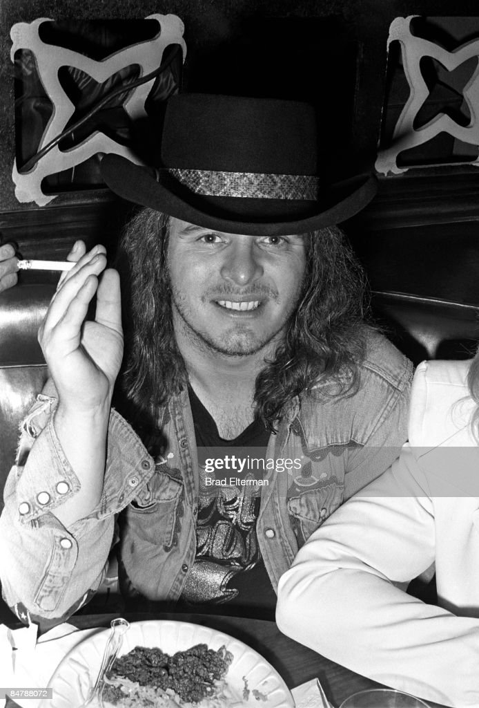 Ronnie Van Zant singer for Lynyrd Skynyrd at a post concert party at the Greyhound bus station circa 1977 in Los Angeles, California.**EXCLUSIVE**