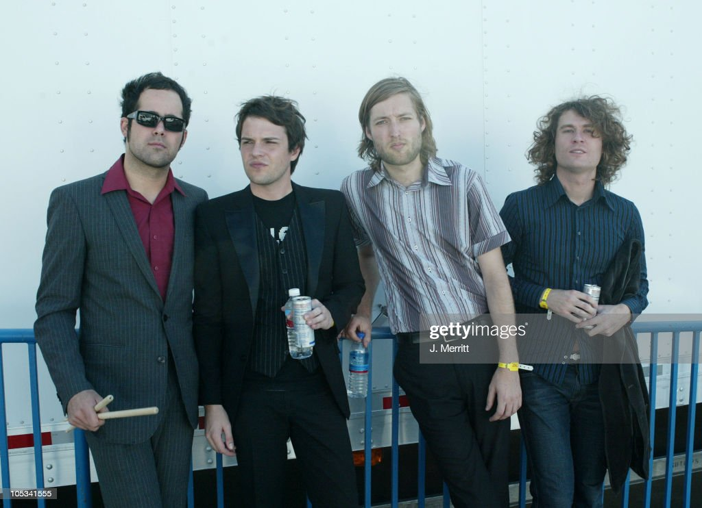 Ronnie Vannucci Brandon Flowers Mark Stoermer and David Keuning of The Killers