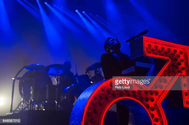 Ronnie Vannuci and Brandon Flowers or The Killers perform live on stage at Brixton Academy on September 12 2017 in London England