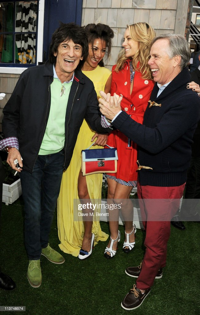 Ronnie Wood, Ana Araujo, <a gi-track='captionPersonalityLinkClicked' href=/galleries/search?phrase=Dee+Ocleppo&family=editorial&specificpeople=592235 ng-click='$event.stopPropagation()'>Dee Ocleppo</a>, and Tommy Hilfiger attend the launch of the new Tommy Hilfiger pop up shop at Tommy Hilfiger 'Prep World' Covent Garden on May 5, 2011 in London, England.