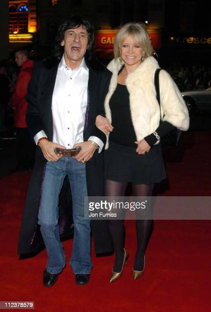 Ronnie Wood and Jo Wood during 'The Phantom of the Opera' London Premiere Arrivals at Odeon Leicester Square in London England Great Britain