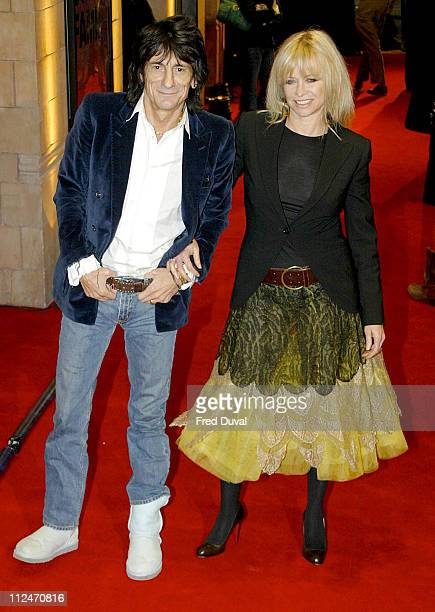 Ronnie Wood and Jo Wood during 'UK Music Hall of Fame' Live Final at Hackney Empire in London Great Britain