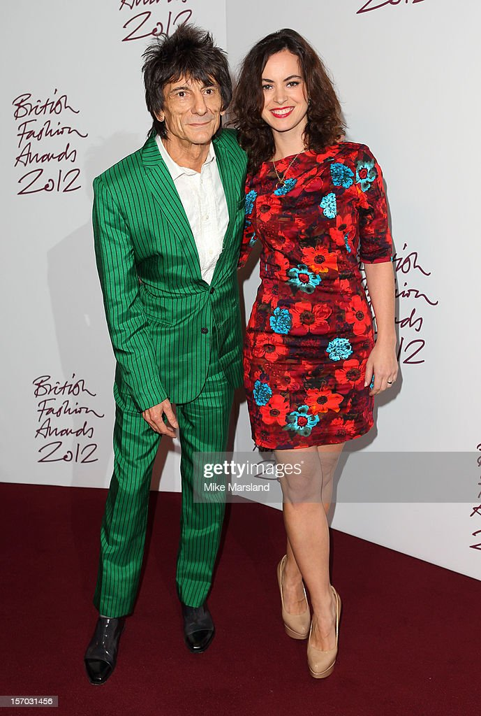 Ronnie Wood and Sally Humphreys attend the British Fashion Awards 2012 at The Savoy Hotel on November 27, 2012 in London, England.