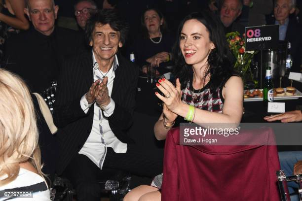 Ronnie Wood and Sally Humphreys attend the Jazz FM Awards 2017 at Shoreditch Town Hall on April 25 2017 in London United Kingdom