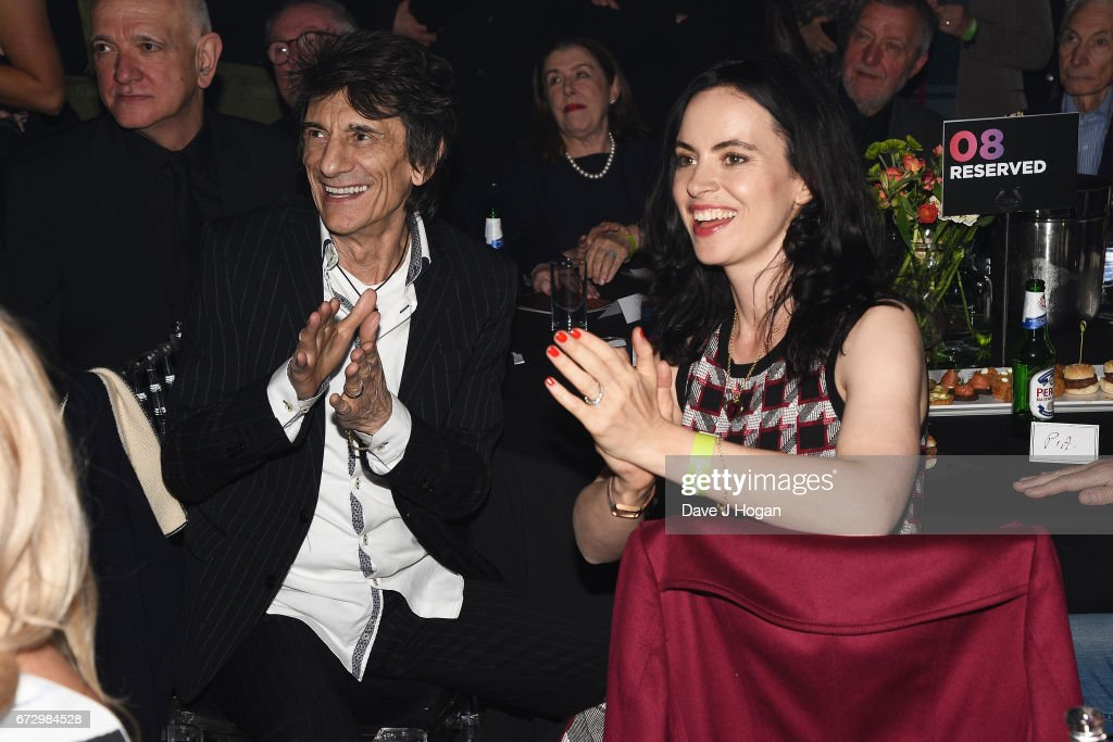Ronnie Wood and Sally Humphreys attend the Jazz FM Awards 2017 at Shoreditch Town Hall on April 25, 2017 in London, United Kingdom.