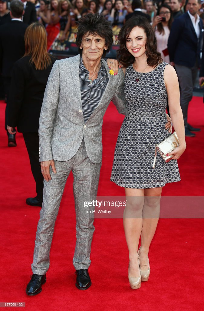 Ronnie Wood and Sally Humphreys attend the World Premiere of 'One Direction: This Is Us' at Empire Leicester Square on August 20, 2013 in London, England.