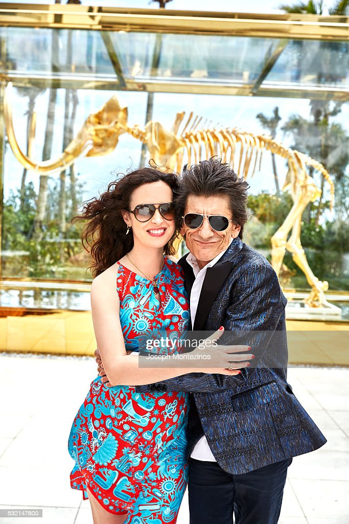 Ronnie Wood and Sally Wood are photographed for Hello! UK on March 28, 2016 in Miami, Florida. ON